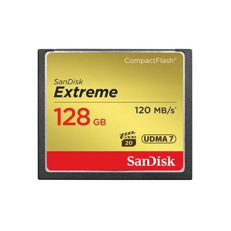 SanDisk Extreme CF 128 GB 120 MB/s zápis 85 MB/s UDMA7 (SDCFXSB-128G-G46)